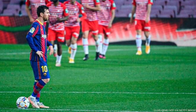 Lionel Messi marcó el 1-0 pero no pudo evitar la derrota en el Camp Nou.