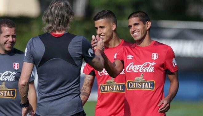 ¿Rumbo a España? Ricardo Gareca confirmó que Luis Abram planea dejar Vélez. Foto: FPF