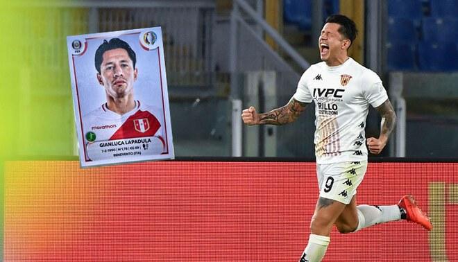 Selección Peruana: así luce la figura de Gianluca Lapadula en álbum de la Copa América. Foto: Composición