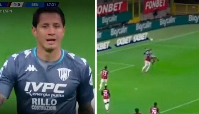 Gianluca Lalapula llegó a Benevento en el 2020. Foto: captura/ESPN