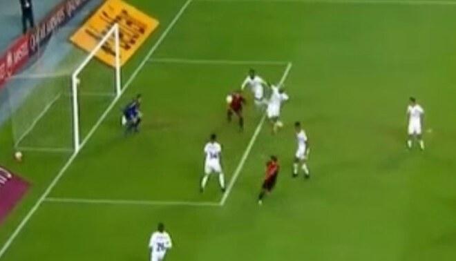 Melgar vs Paranaense: Bordacahar anotó el 1-0 arequipeño en la Copa Sudamericana. Foto: Captura