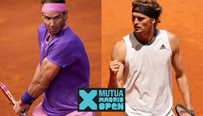 Nadal vs Zverev EN VIVO: horarios y dónde ver cuartos de final del Mutua Madrid Open 2021
