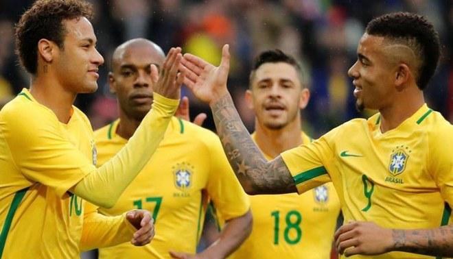 Brasil, con Neymar a la cabeza, iguala 0-0 ante Camerún de Seedorf