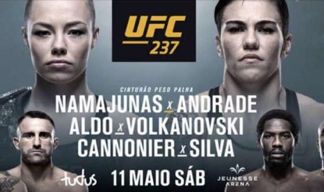 Rose Namajunas vs. Jessica Andrade y Anderson Silva vs. Gared Cannonier irán en el estelar del UFC 237