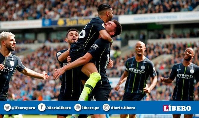 Manchester City se coronó bicampeón de la Premier League tras vencer 4-1 a Brighton