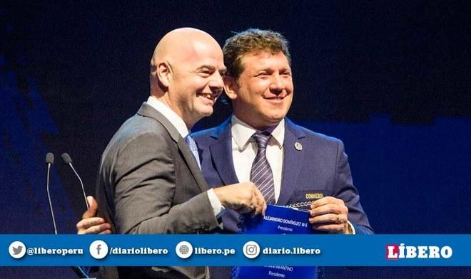 La amistad entre Gianni Infantino (FIFA) y Alejandro Domínguez (CONMEBOL)