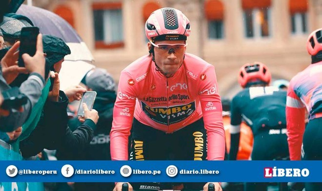 Primoz Roglic se impuso en la novena jornada del Giro de Italia (AFP)