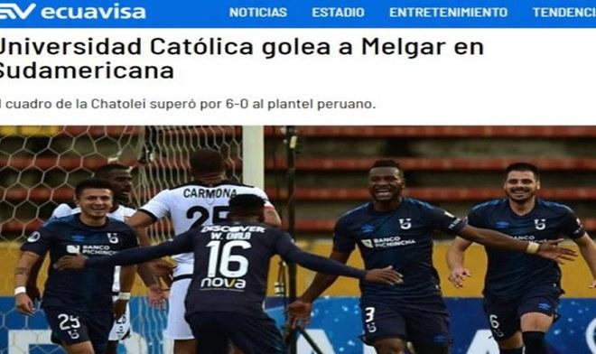 Melgar vs Universidad Católica: así reaccionaron la prensa de Ecuador tras la goleada que sufrió Melgar | FOTOS