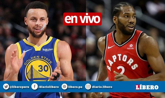 NBA EN VIVO Warriors vs Raptors chocan hoy en Toronto, Canadá