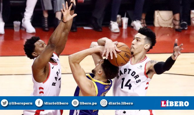 Los Raptors derrotaron a los Warriors en el primer juego de las Finales de la NBA