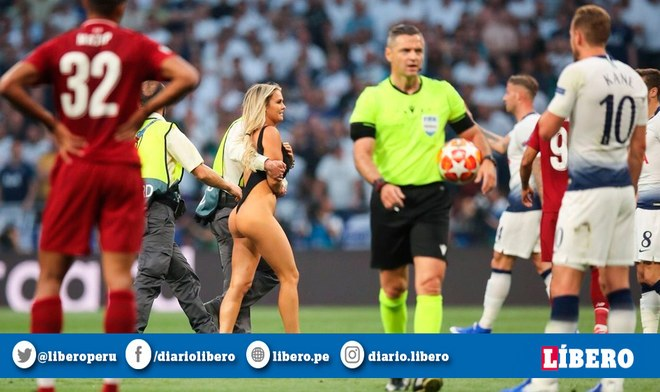 Youtube: Liverpool vs Tottenham EN VIVO | Mujer en bikini ingresó al recinto del Wanda Metropolitano en la Final Champions League 2019