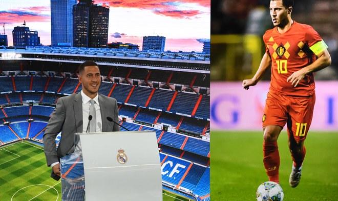 Eden Hazard presentación [EN VIVO] vía Real Madrid TV en el Santiago Bernabéu