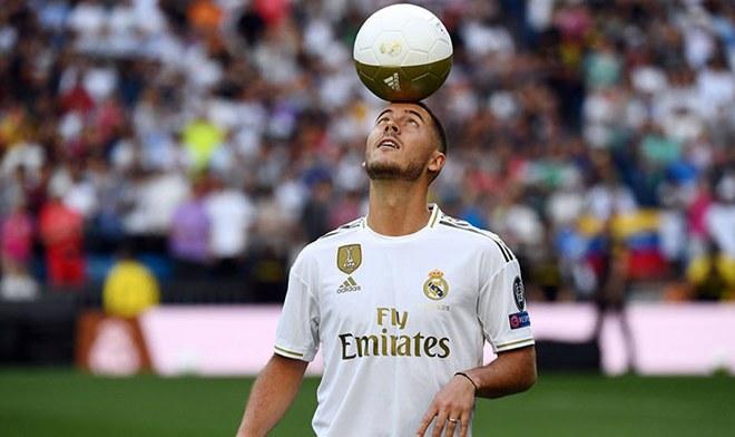 Eden Hazard fue presentado como nuevo jugador del Real Madrid ante 50 mil personas