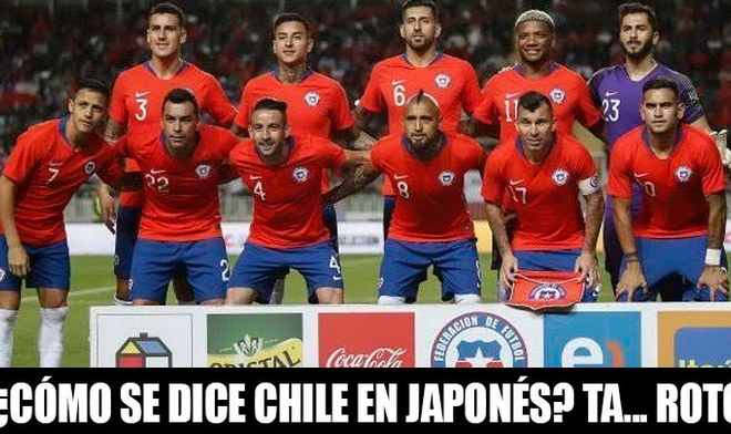 Chile vs Japón - meme
