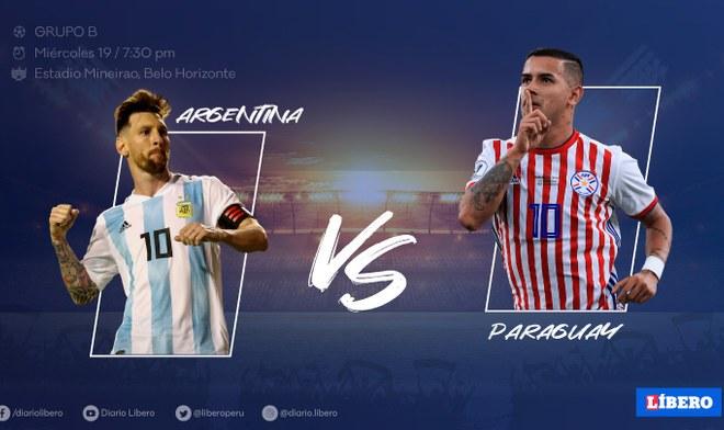 Argentina vs Paraguay, En Vivo, América TV GO, Copa América 2019.