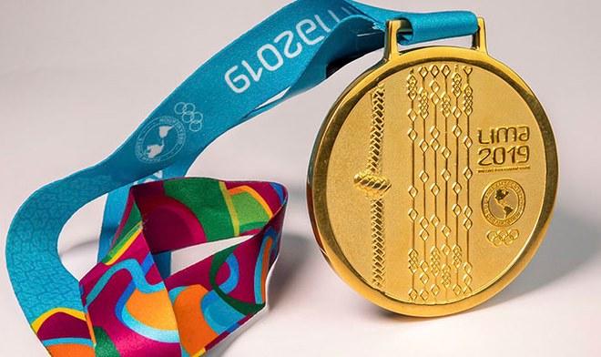 Medalla de Oro Parapanamericana, la cual representa un Quipu de nuestra cultura Inca