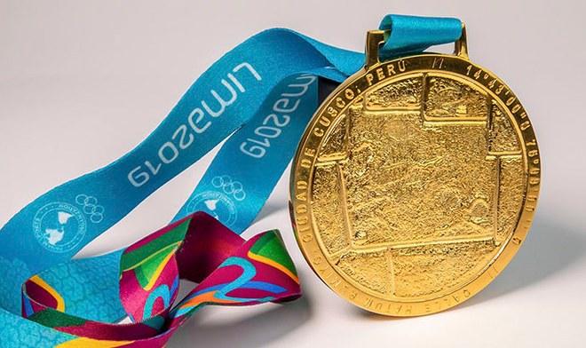Medalla de Oro Panamericana, la cual representa la piedra de los 12 ángulos de Cusco.