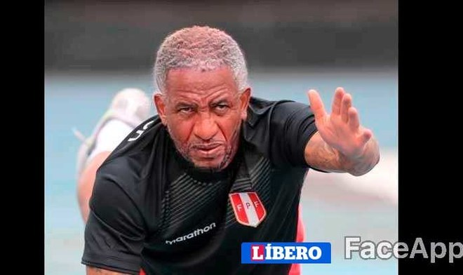 Jefferson Farfán. FOTO: FaceApp