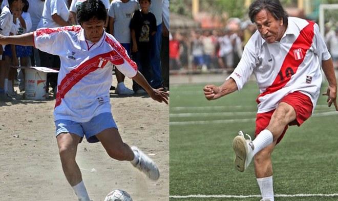 Alejandro Toledo camiseta de la Selección Peruana