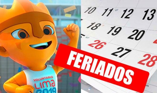 Feriados Lima 2019 Juegos Panamericanos