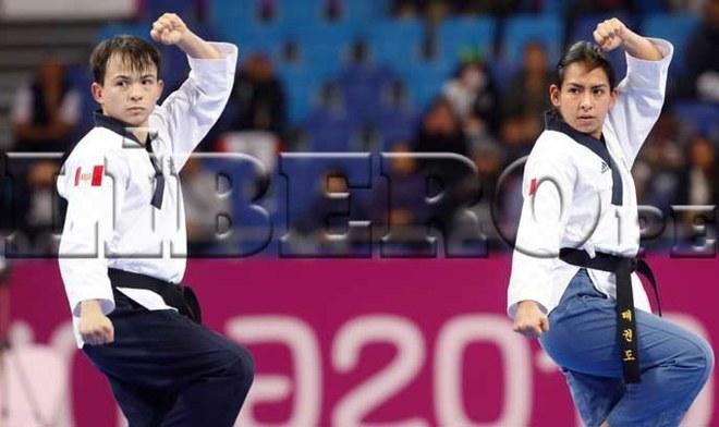 Renzo Saux y Ariana Vera otorgan medalla de bronce a Perú en Taewkondo Poomsae Mixto