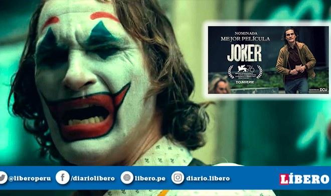 Joker nominada como Mejor Película en importante Festival de Cine