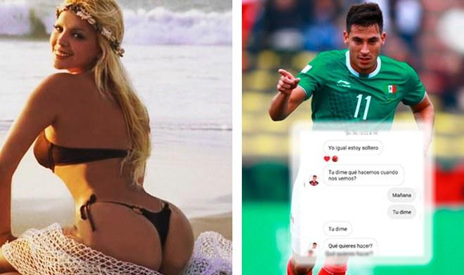 Shirley Cherres luego del 'ampay' revela chats íntimos con futbolista mexicano casado