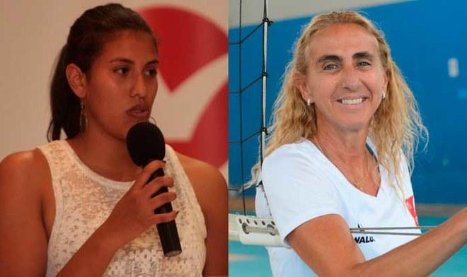 Vóley peruano: Karla Ortiz anunció medidas legales contra Natalia Málaga. FOTO: Composición