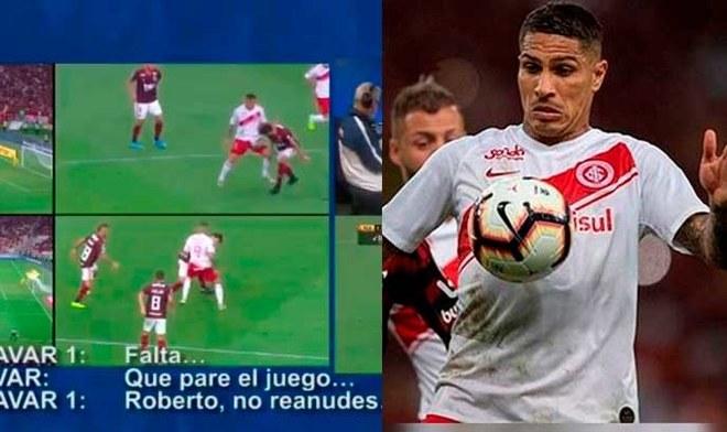 Conmebol anunció drástico cambio en el VAR tras polémico penal no cobrado a Paolo Guerrero. FOTO: Composición