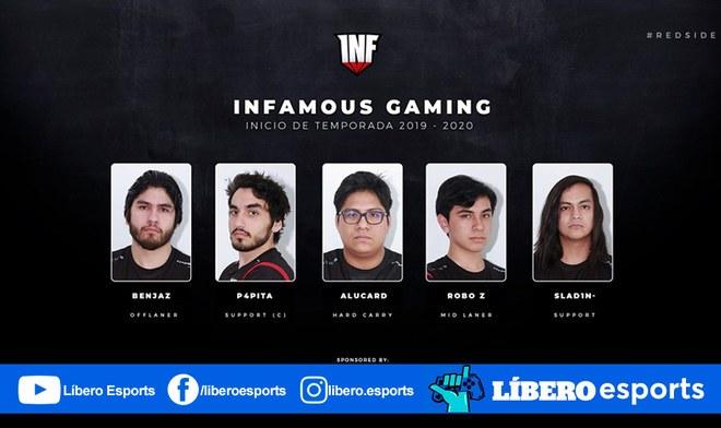Infamous Gaming presenta su nuevo equipo para el DPC 2019-20