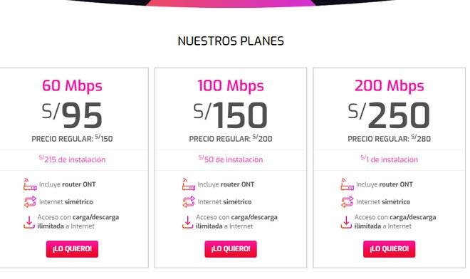 WIN: internet de fibra óptica simétrica de hasta 200 mbps ahora en todo Lima