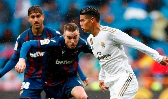 Real Madrid sufrió para vencer por 3-2 a Levante en LaLiga. FOTO: Difusión
