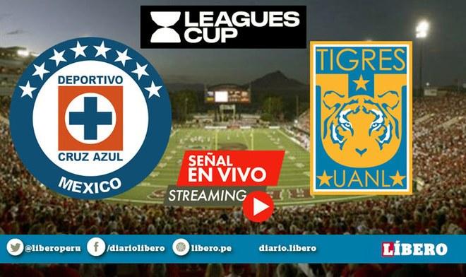 Televisa TUDN EN VIVO Cruz Azul vs Tigres ONLINE ESPN EN VIVO Ver GRATIS Final Partido de hoy Leagues Cup 2019 Yotún Live Stream hora México Canal 5 TV nu9ve Univisión VIDEO