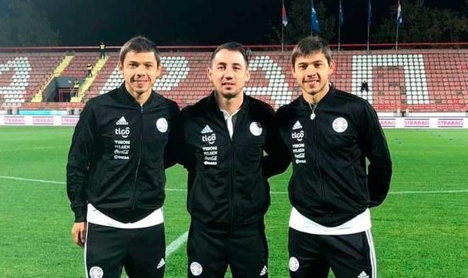 Paraguay previo al duelo ante Serbia. FOTO: Twitter