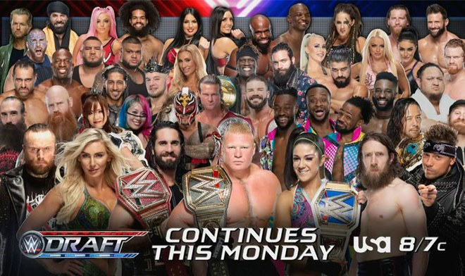 EN VIVO, WWE, SmackDown, Brock Lesnar, Charlotte, Seth Rollins, Becky Lynch, Roman Reigns, Draft 2019, Fox, Youtube.
