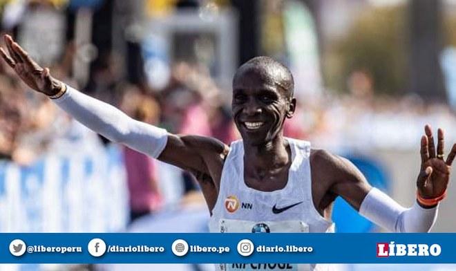 Youtube: Eliud Kipchoge logró el récord mundial de maratón en Viena   Atletismo   IAAF   Kenia