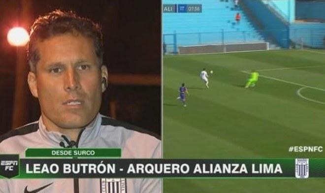 Leao Butrón Alianza Lima VIDEO ESPN FC sí fue mano de Butrón ante San Martín árbitro Luis Garay tarjeta roja directa AL YouTube yt