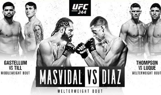 Ver UFC EN VIVO Diaz vs Masvidal ONLINE FOX Action UFC 244 GRATIS FOX Sports ESPN Fight Card Reddit UFC Fight Night hora México Argentina Canal TV Cartelera Link Stream Resultados UFC Fight Pass YouTube VIDEO