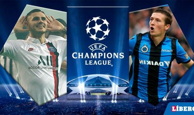 PSG, Brujas, Champions League