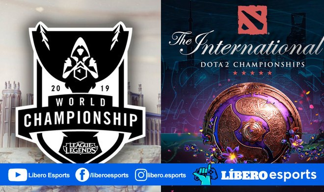League of Legends Dota 2 Worlds 2019 The International 2019