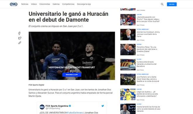 Universitario: Declaraciones de prensa argentina | Huracán | Fútbol internacional | Argentina