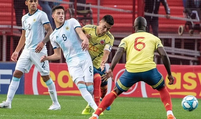 Argentina vs Colombia Sub 23 EN VIVO apurogol DirecTV ONLINE TyC Sports Dónde y cómo ver Preolímpico 2020 Fecha Horario Grupo A Canal Caracol TV Pública