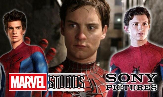Marvel Spiderman Tráiler Tobey Maguire, Andrew Garfield y Tom Holland en el Spider-Verse Hombre Araña Peter Parker   UCM   Disney   YouTube   VIDEO