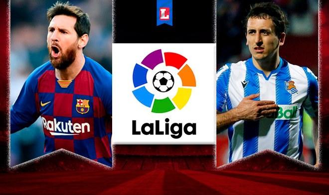 Barcelona vs Real Sociedad EN VIVO ESPN 2 Horarios TV Ver Partido LaLiga Movistar Mitele Futbol Lionel Messi ONLINE Sky Mexico Hora juega Barca hoy