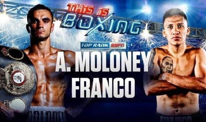 Boxeo en vivo Moloney vs franco