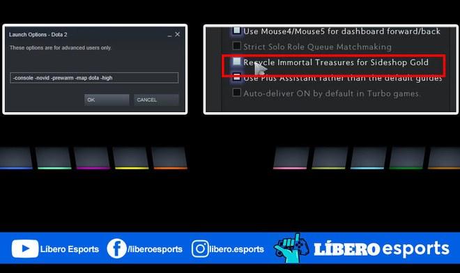 Dota 2 Guías solución pantalla negra problemas rendimiento juego logros sideshop tienda lateral