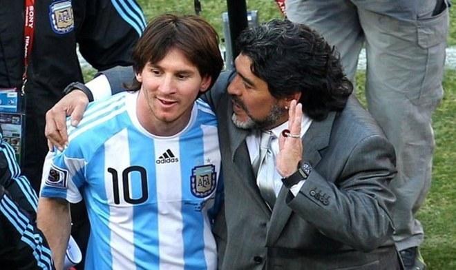 Messi, Maradona