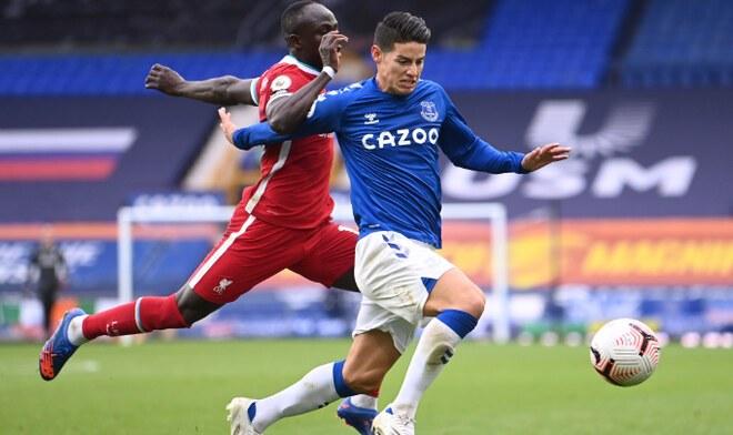 James Rodríguez, Liverpool, Everton