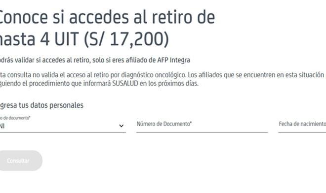 Retiro AFP Integra