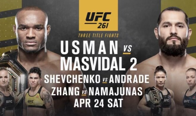 Usman vs Masvidal UFC 261